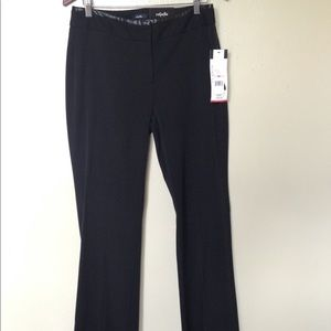 NWTs Rafaella Flair Black Pants, Size 10